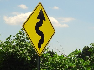 Curve sign - Free from Morgue File