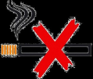 No Smoking with Cigarette